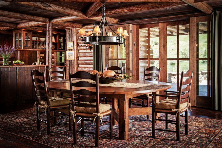 adelaparvu.com despre cabana din barne de lemn in Montana, design Miller Architects, casa lemn SUA, casa lemn Paradise Valley (24)