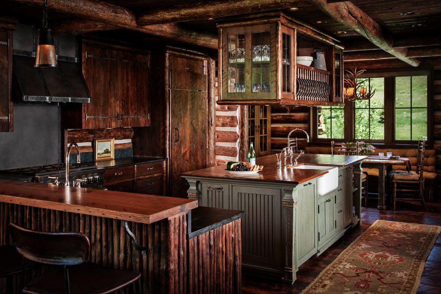 adelaparvu.com despre cabana din barne de lemn in Montana, design Miller Architects, casa lemn SUA, casa lemn Paradise Valley (25)
