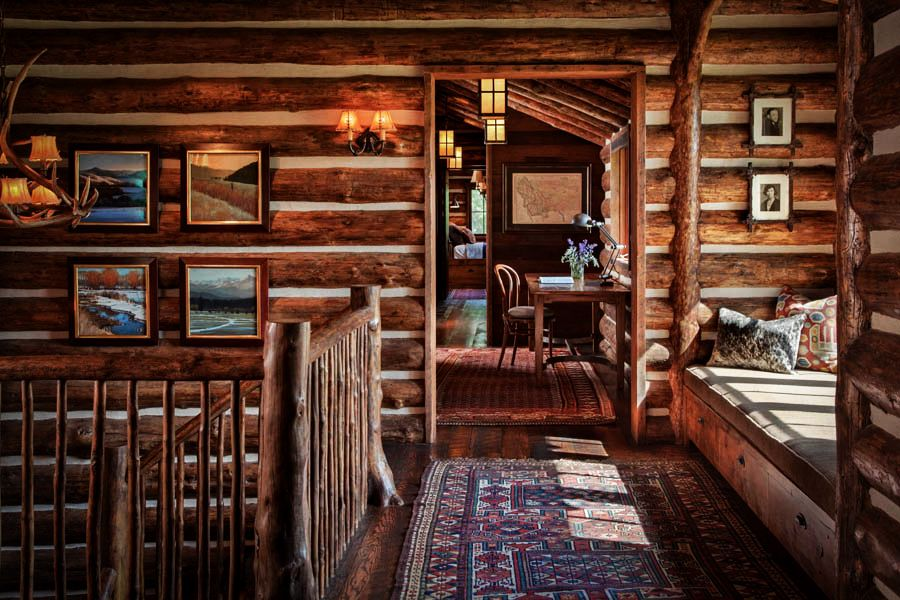 adelaparvu.com despre cabana din barne de lemn in Montana, design Miller Architects, casa lemn SUA, casa lemn Paradise Valley (27)