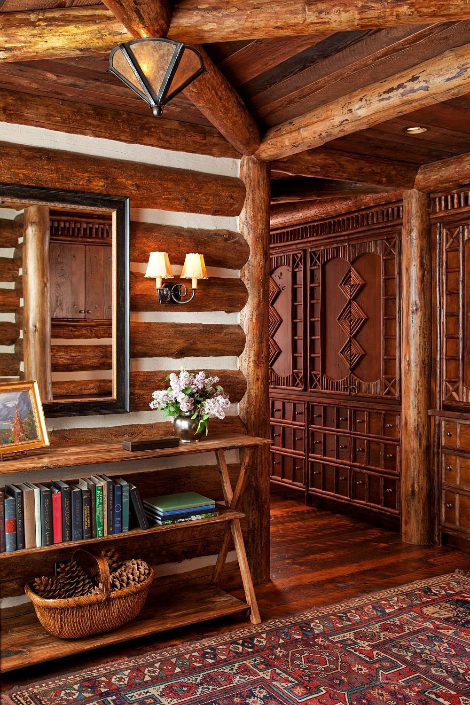 adelaparvu.com despre cabana din barne de lemn in Montana, design Miller Architects, casa lemn SUA, casa lemn Paradise Valley (5)