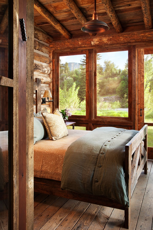 adelaparvu.com despre cabana din barne de lemn in Montana, design Miller Architects, casa lemn SUA, casa lemn Paradise Valley (7)