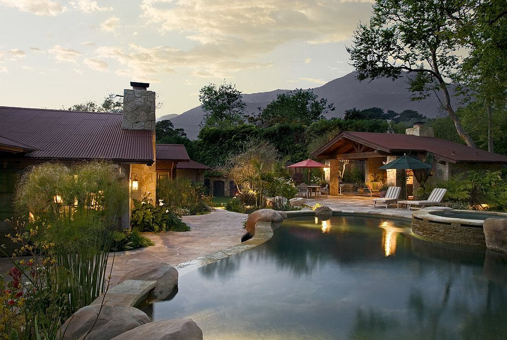 adelaparvu.com despre casa cu gradina in stil mediteranean, casa cu gradina si piscina, casa SUA, casa americana, Featherhill, design Becker Studios (12)