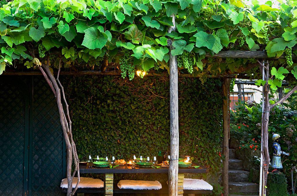 adelaparvu.com despre casa cu interior clasic si terasa cu viata de vie in Portofino, casa Italia, Foto Adriano Bacchella (10)