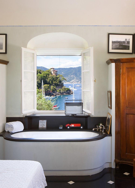 adelaparvu.com despre casa cu interior clasic si terasa cu viata de vie in Portofino, casa Italia, Foto Adriano Bacchella (24)