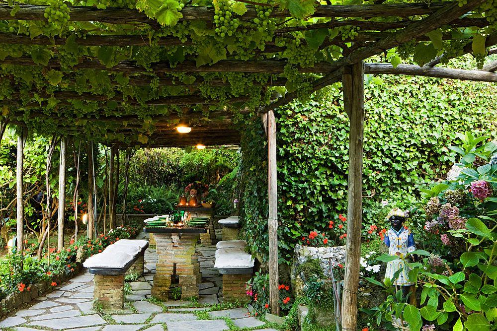 adelaparvu.com despre casa cu interior clasic si terasa cu viata de vie in Portofino, casa Italia, Foto Adriano Bacchella (9)