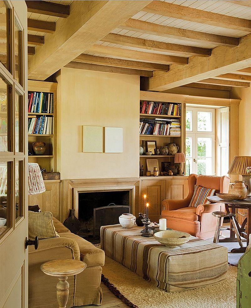 Culori naturale la interiorul unei case rustice cu terase for Ingrid house