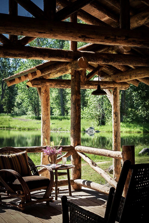 adelaparvu.com despre casa de oaspeti langa cabana din barne de lemn in Montana, design Miller Architects, casa lemn SUA, casa lemn Paradise Valley (1)