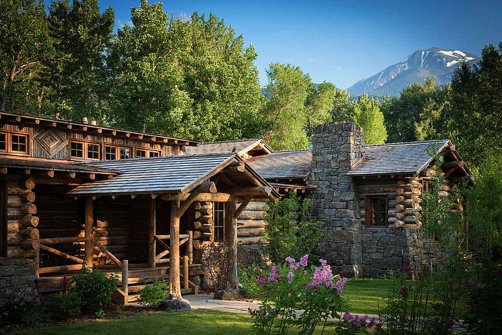 adelaparvu.com despre casa de oaspeti langa cabana din barne de lemn in Montana, design Miller Architects, casa lemn SUA, casa lemn Paradise Valley (2)