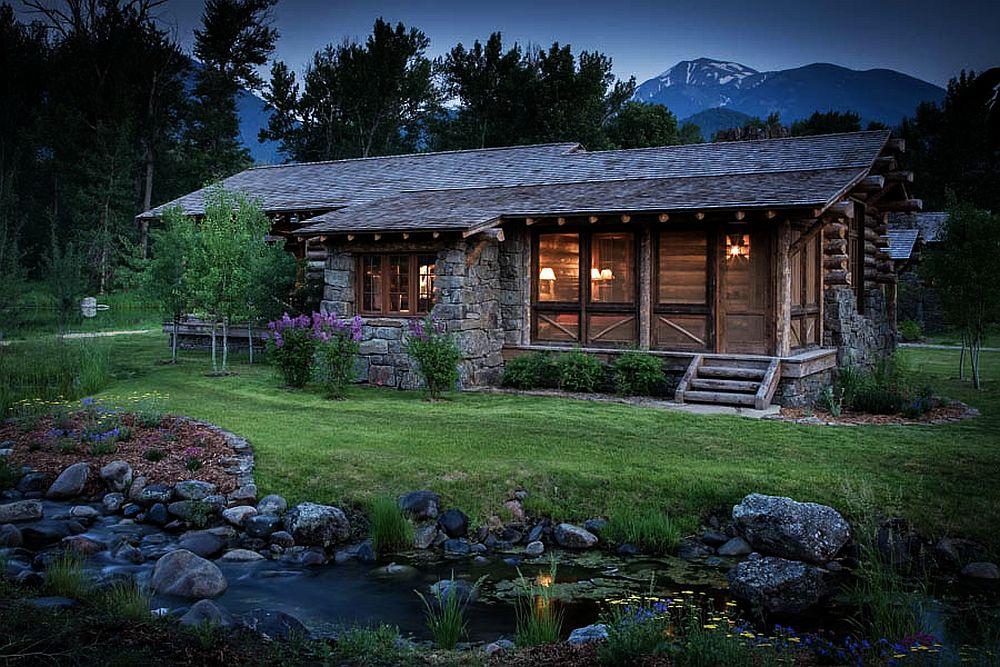adelaparvu.com despre casa de oaspeti langa cabana din barne de lemn in Montana, design Miller Architects, casa lemn SUA, casa lemn Paradise Valley (3)