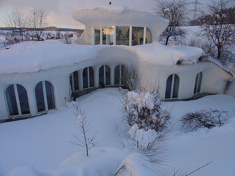 adelaparvu.com despre case organice sub pamant, casa Leuzinger, arhitect Peter Vetsch (2)