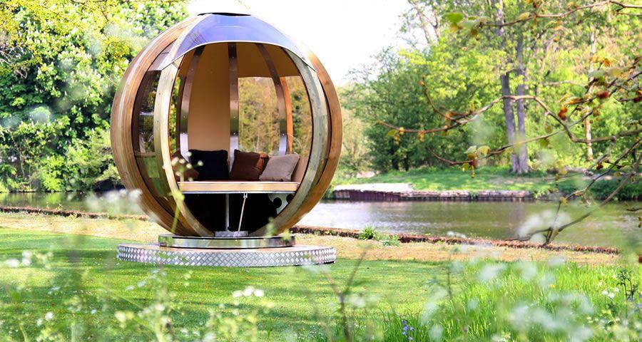 adelaparvu.com despre casute de gradina sferice care se rotesc, design Ornate Garden (17)