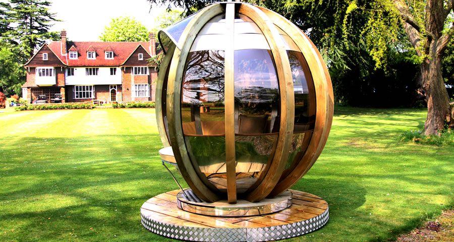 adelaparvu.com despre casute de gradina sferice care se rotesc, design Ornate Garden (18)