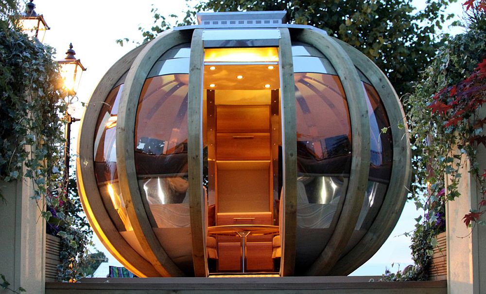 adelaparvu.com despre casute de gradina sferice care se rotesc, design Ornate Garden (2)