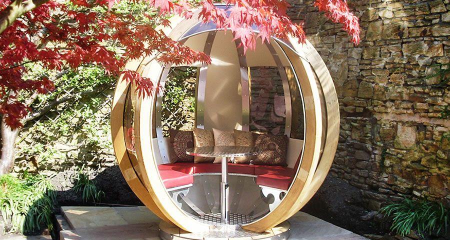 adelaparvu.com despre casute de gradina sferice care se rotesc, design Ornate Garden (9)