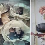 adelaparvu.com despre flori, frunze, pene de bumbac imprimate cu imagini vintage, artist Miranda van Dijk, Puur Anders (13)