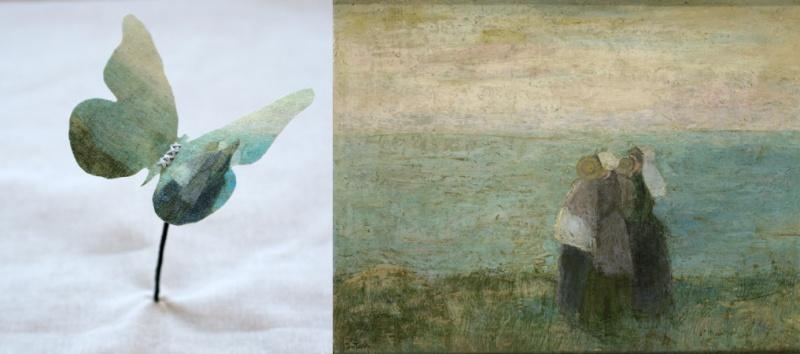 adelaparvu.com despre flori, frunze, pene de bumbac imprimate cu imagini vintage, artist Miranda van Dijk, Puur Anders (23)
