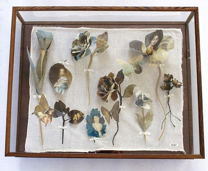 adelaparvu.com despre flori, frunze, pene de bumbac imprimate cu imagini vintage, artist Miranda van Dijk, Puur Anders (24)