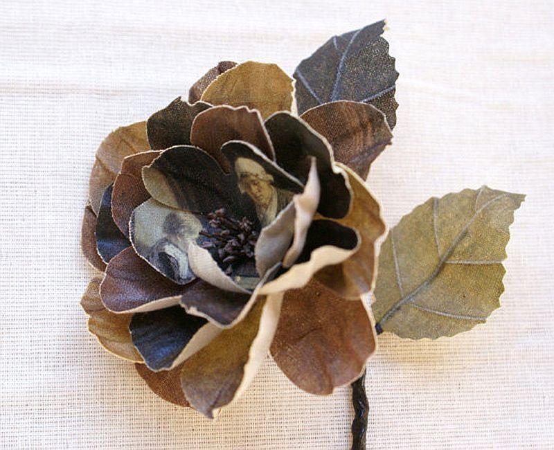 adelaparvu.com despre flori, frunze, pene de bumbac imprimate cu imagini vintage, artist Miranda van Dijk, Puur Anders (30)