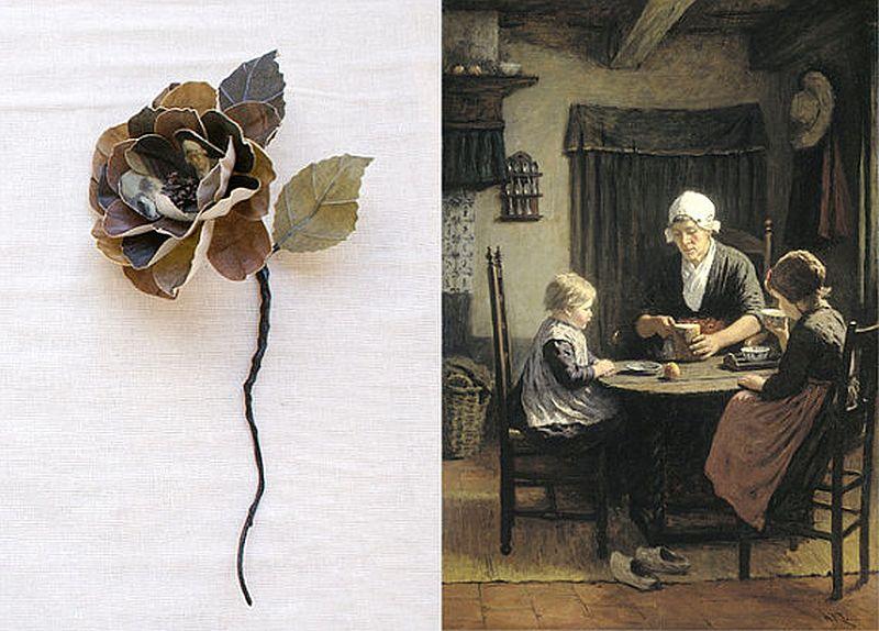 adelaparvu.com despre flori, frunze, pene de bumbac imprimate cu imagini vintage, artist Miranda van Dijk, Puur Anders (32)