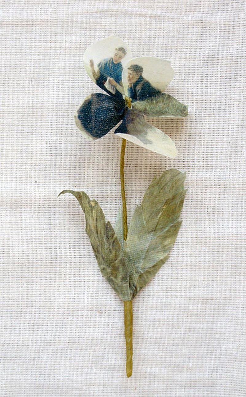 adelaparvu.com despre flori, frunze, pene de bumbac imprimate cu imagini vintage, artist Miranda van Dijk, Puur Anders (33)