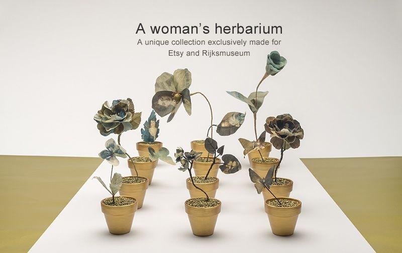 adelaparvu.com despre flori, frunze, pene de bumbac imprimate cu imagini vintage, artist Miranda van Dijk, Puur Anders (46)