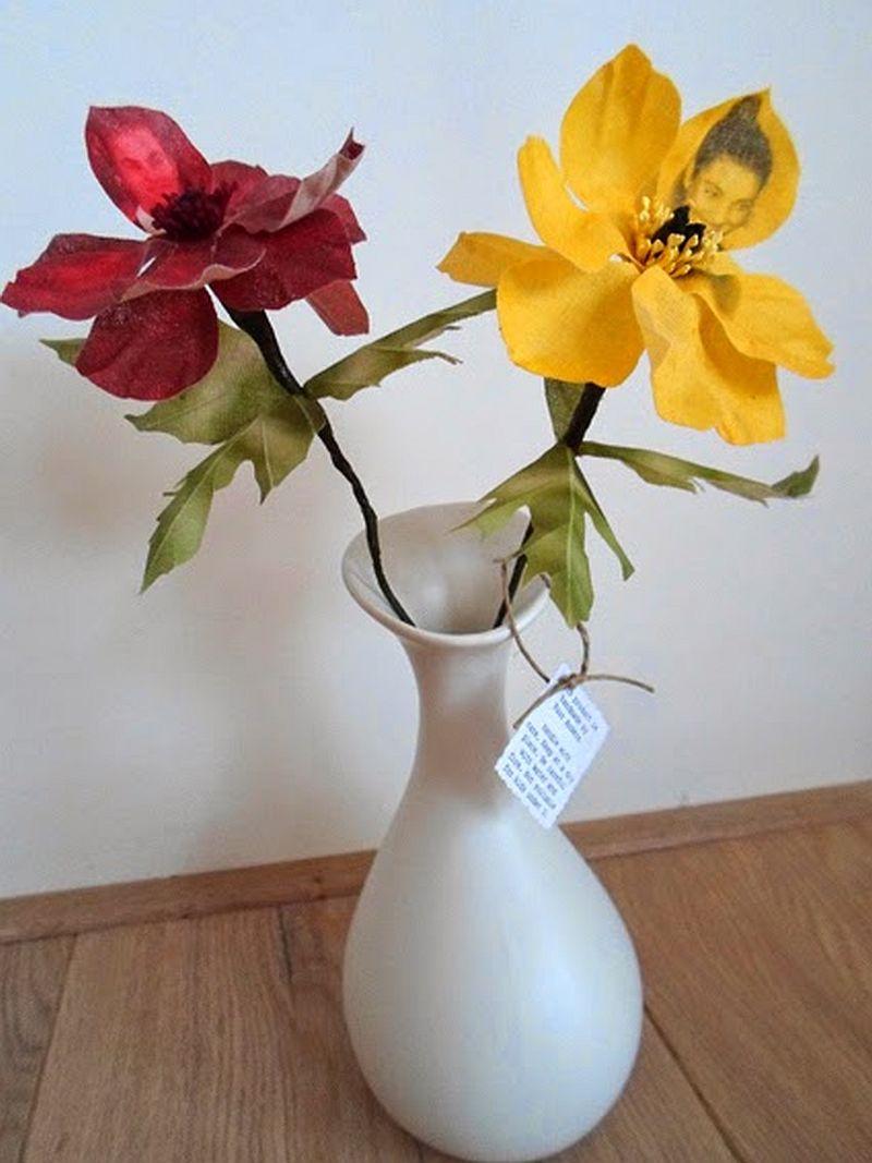 adelaparvu.com despre flori, frunze, pene de bumbac imprimate cu imagini vintage, artist Miranda van Dijk, Puur Anders (8)