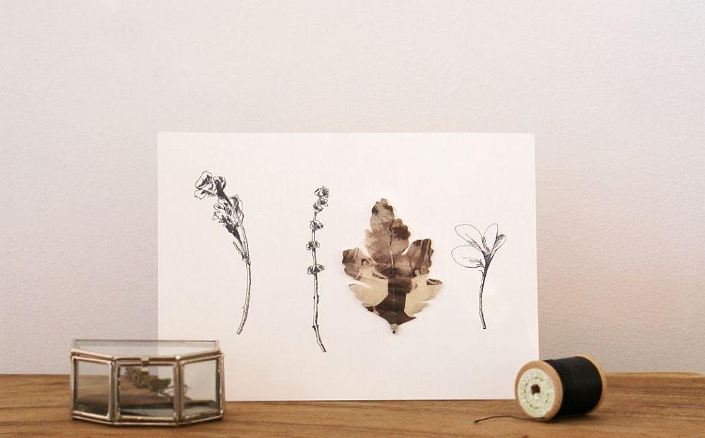 adelaparvu.com despre flori, frunze, pene de bumbac imprimate cu imagini vintage, artist Miranda van Dijk, Puur Anders (9)