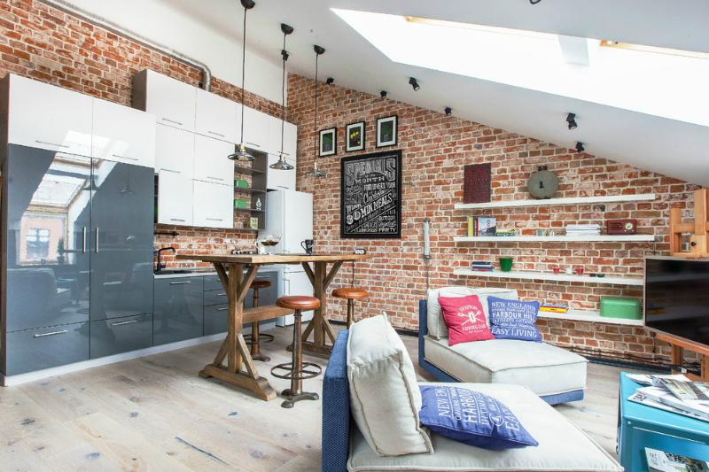adelaparvu.com despre garsoniera 40 de mp la mansarda, design interior Au Room (1)