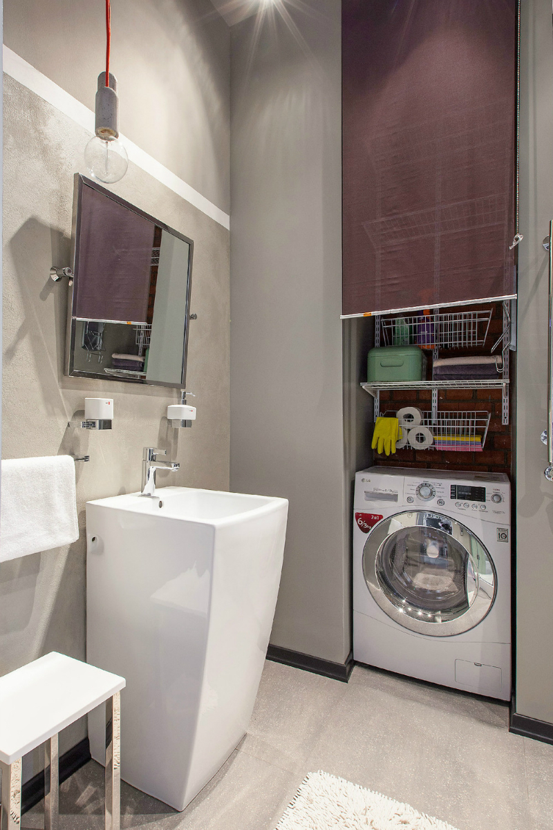 adelaparvu.com despre garsoniera 40 de mp la mansarda, design interior Au Room (13)