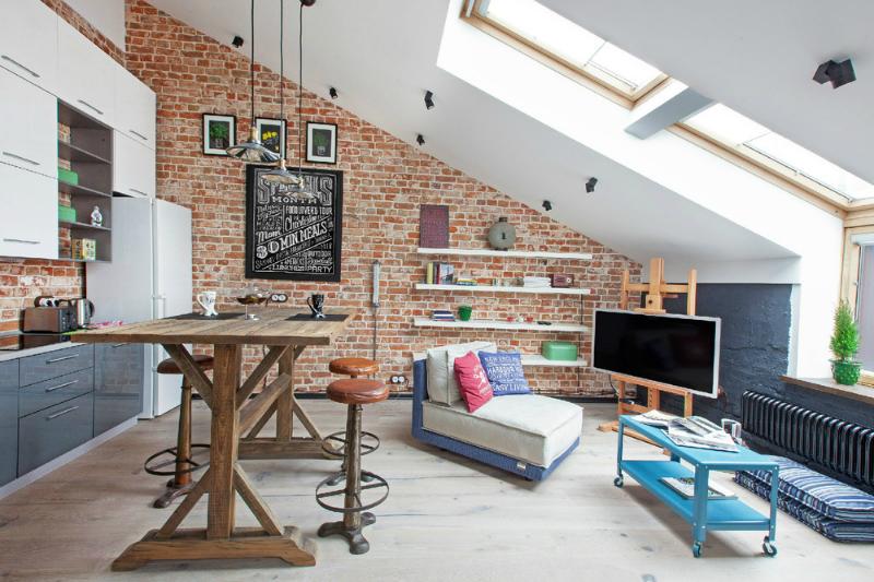 adelaparvu.com despre garsoniera 40 de mp la mansarda, design interior Au Room (2)