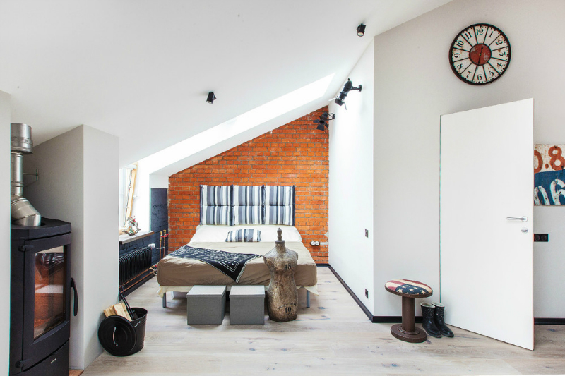 adelaparvu.com despre garsoniera 40 de mp la mansarda, design interior Au Room (8)