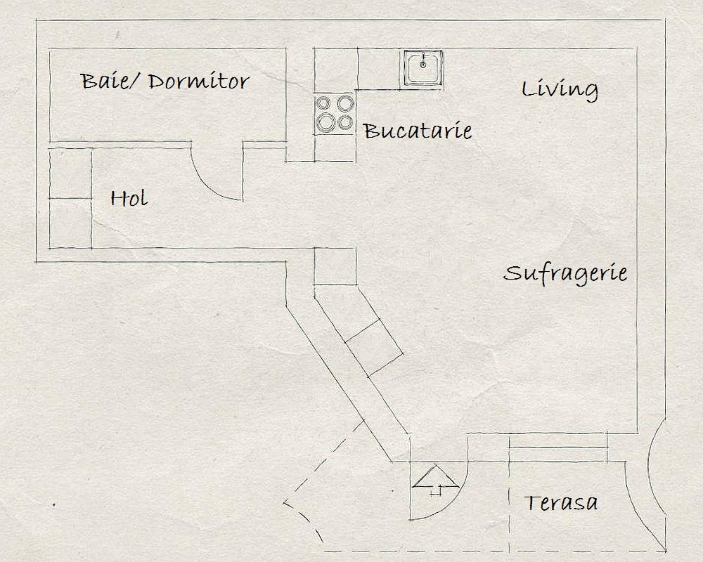 adelaparvu.com despre garsoniera de 32 mp cu loc de dormit la etaj, Foto Stadshem (2)