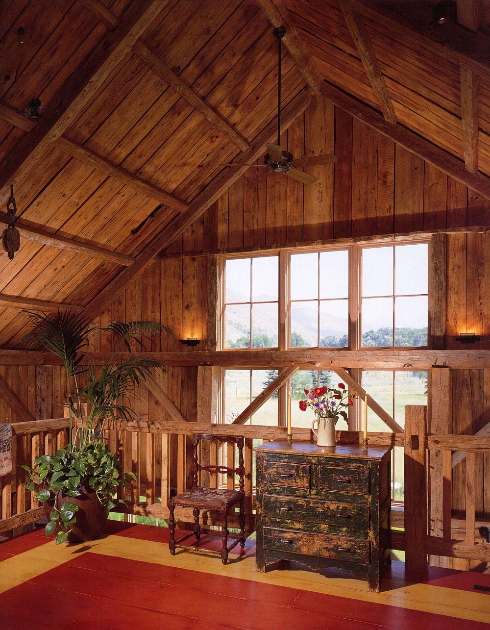 adelaparvu.com despre hambar transformat in casa de vacanta, casa din lemn, casa americana, casa SUA, design Miller Architects (10)