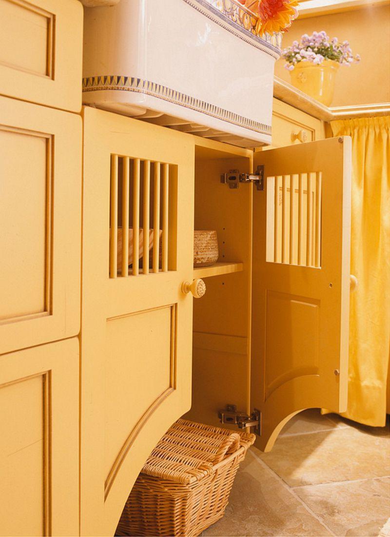 adelaparvu.com despre idee mobilier bucatarie rustica, galbena, proiect spalatorie Golden Gate Kitchens (4)