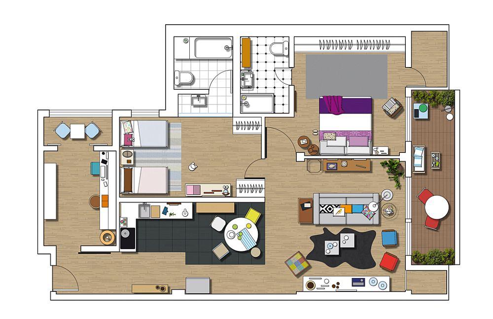 adelaparvu.com despre locuinta amenajata ca un loft, apartament Madrid, designer Maria Lopez (18)