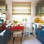 adelaparvu.com despre reamenajare bucatarie de bloc, bucatarie albastra cu loc pentru masina de spalat (1)