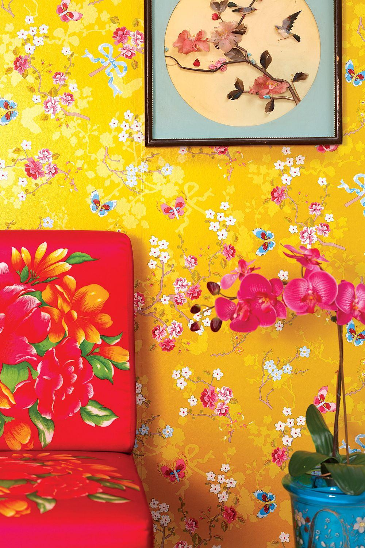 adelaparvu.com despre tapete ChineseRose_yellow_Pip Studio