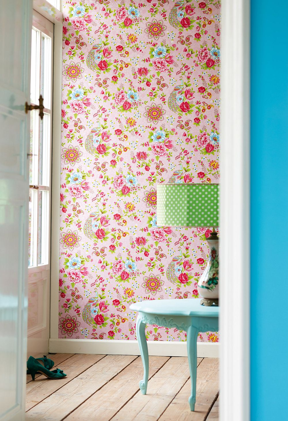adelaparvu.com despre tapete Pip_Flowersinthemix_pink_02-Pip Studio