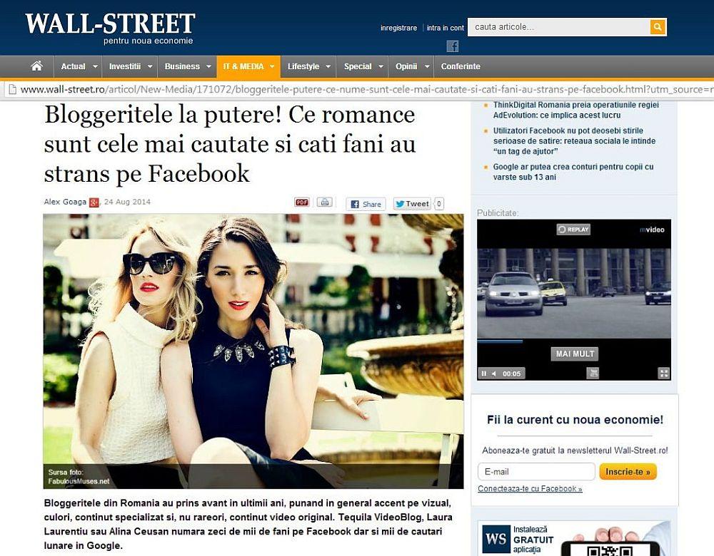 adelaparvu.com in topul Wall Street report iulie 2014
