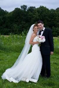 Alina si sotul ei Ghica la nunta lor