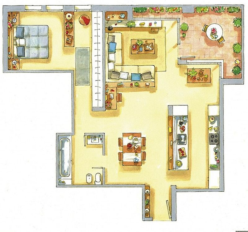adelaparvu.com despre apartament de doua camere cu multe locuri de depozitare, design Pepe Llaudet, Foto ElMueble (9)