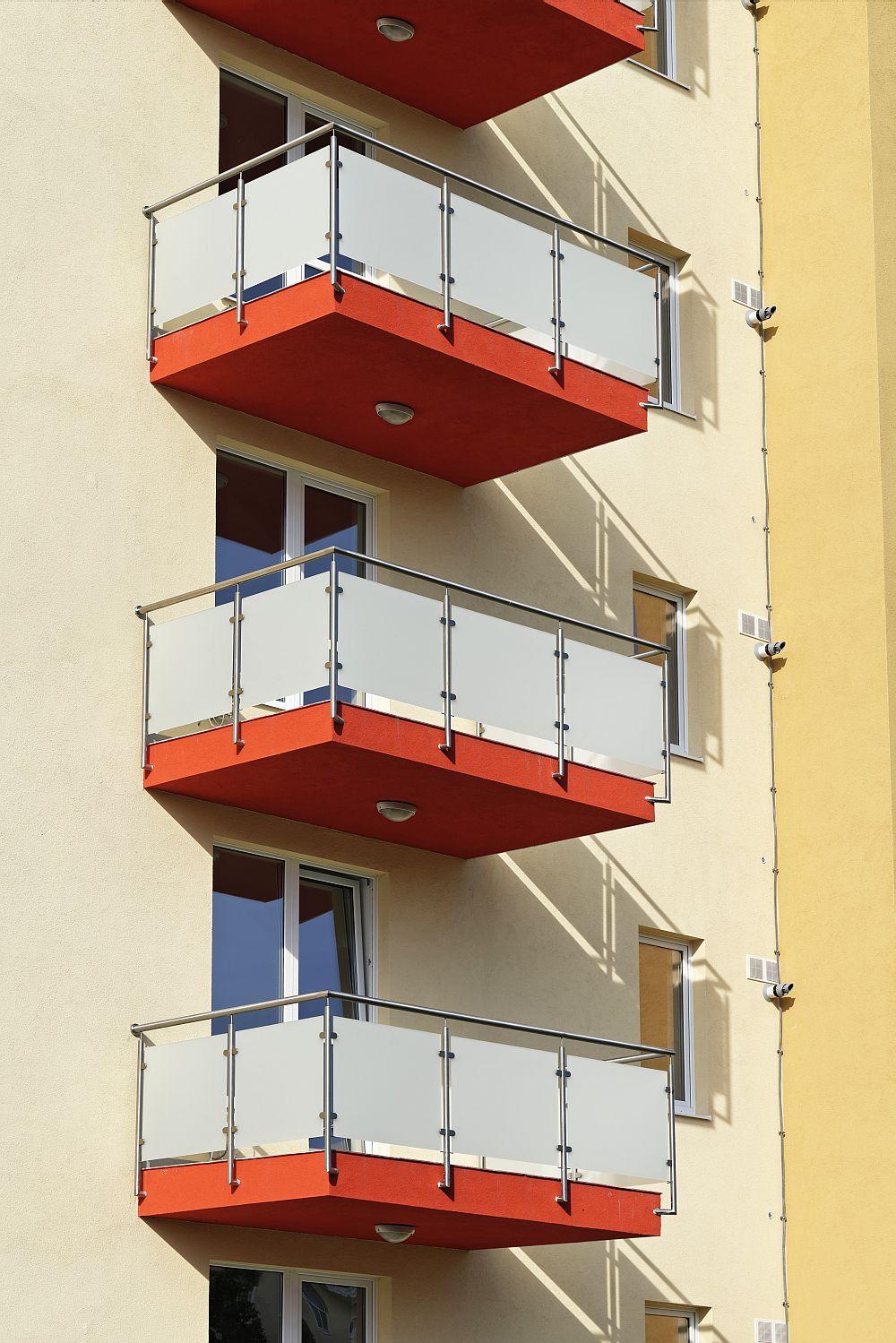 Balcoanele apartamentelor de la The Park