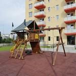 Locul de joaca de la The Park din fata blocului