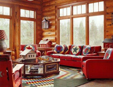 adelaparvu.com despre cabana din barne de lemn cu interioare rustic colorate, designer Antony Barata (1)
