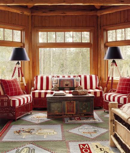 adelaparvu.com despre cabana din barne de lemn cu interioare rustic colorate, designer Antony Barata (10)