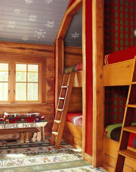 adelaparvu.com despre cabana din barne de lemn cu interioare rustic colorate, designer Antony Barata (11)