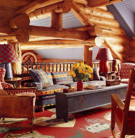 adelaparvu.com despre cabana din barne de lemn cu interioare rustic colorate, designer Antony Barata (12)