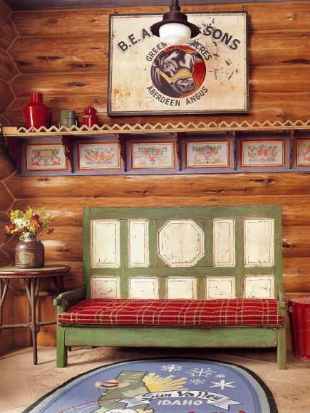 adelaparvu.com despre cabana din barne de lemn cu interioare rustic colorate, designer Antony Barata (8)