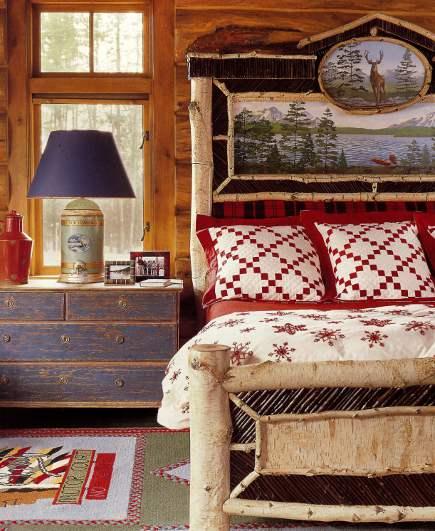 adelaparvu.com despre cabana din barne de lemn cu interioare rustic colorate, designer Antony Barata (9)