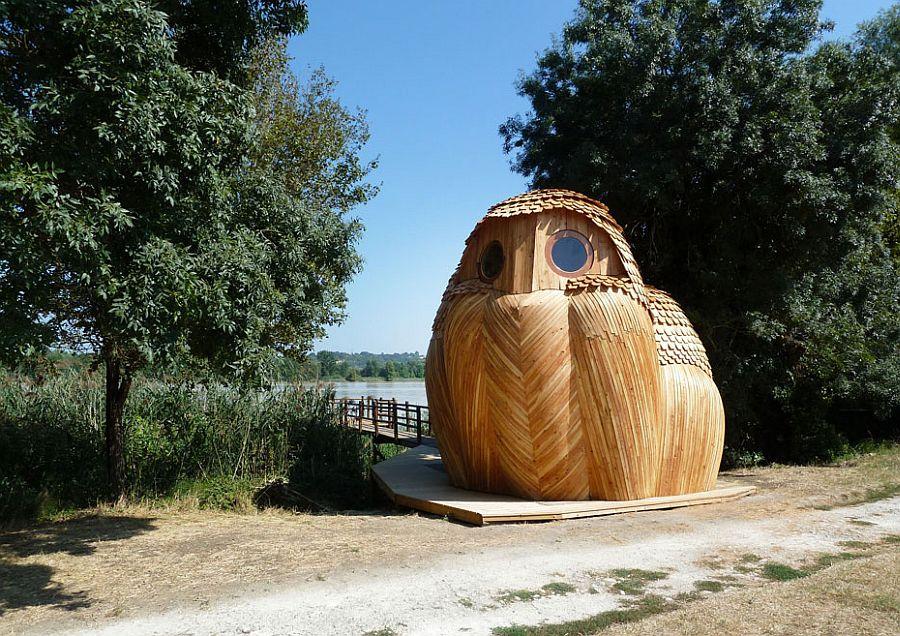 adelaparvu.com despre cabana in forma de bufnita, design Zebra3, Foto Bruitdufrigo Refuges Guetteurs (6)